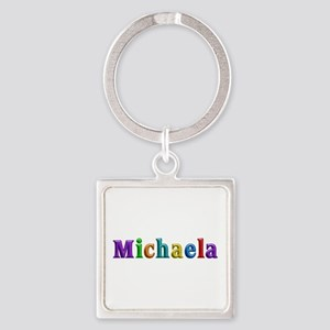 Michaela Shiny Colors Square Keychain