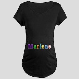 Marlene Shiny Colors Maternity Dark T-Shirt