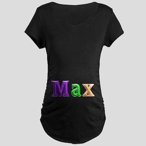 Max Shiny Colors Maternity Dark T-Shirt