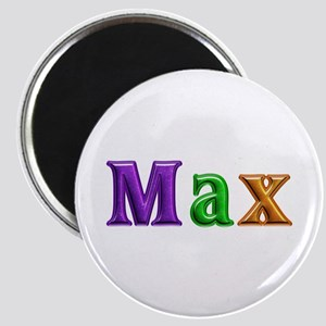 Max Shiny Colors Round Magnet