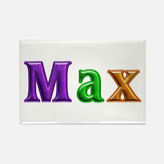 Max Shiny Colors Rectangle Magnet 100 Pack
