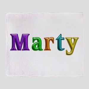 Marty Shiny Colors Throw Blanket