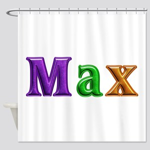 Max Shiny Colors Shower Curtain