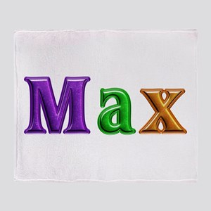 Max Shiny Colors Throw Blanket