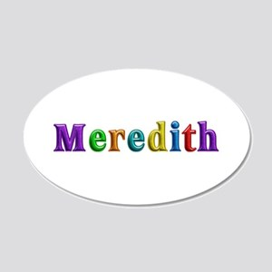 Meredith Shiny Colors 20x12 Oval Wall Decal