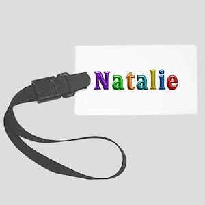 Natalie Shiny Colors Large Luggage Tag