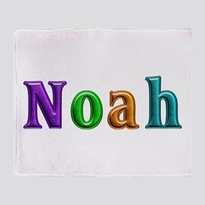 Noah Shiny Colors Throw Blanket