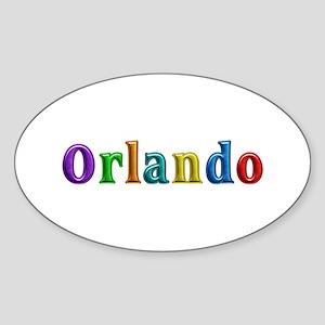 Orlando Shiny Colors Oval Sticker