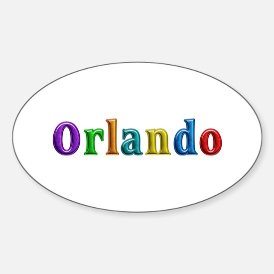 Orlando Shiny Colors Oval Decal