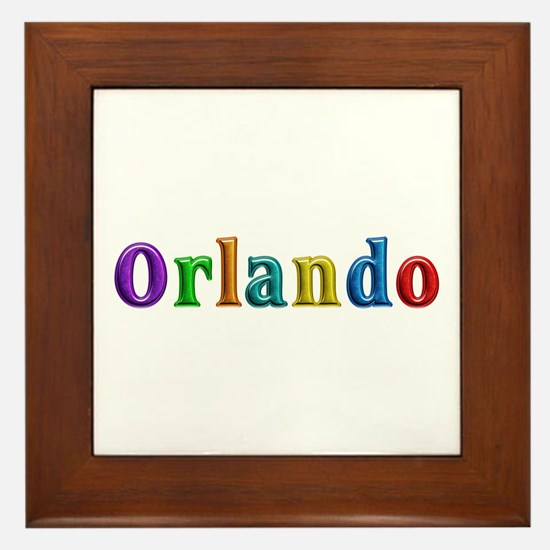 Orlando Shiny Colors Framed Tile