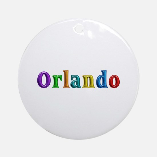 Orlando Shiny Colors Round Ornament