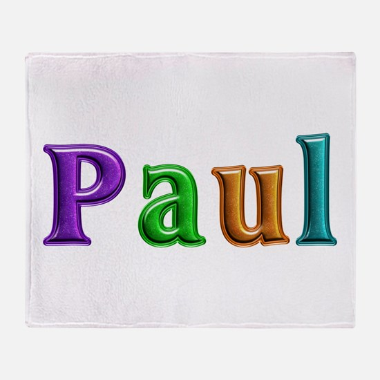 Paul Shiny Colors Throw Blanket