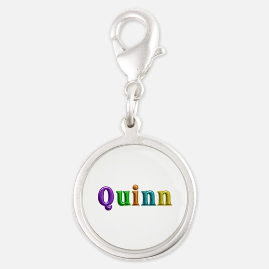Quinn Shiny Colors Silver Round Charm