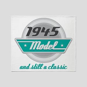1945 Birthday Vintage Chrome Throw Blanket