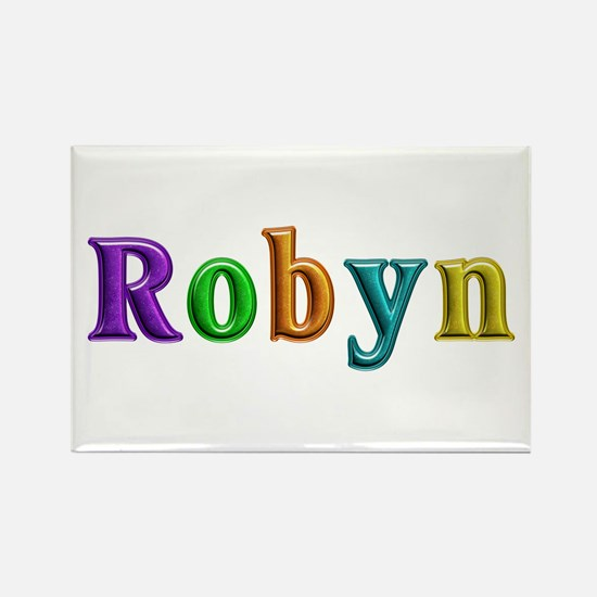 Robyn Shiny Colors Rectangle Magnet