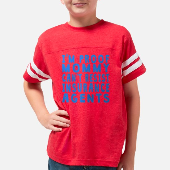 Proof Mommy Cant Resist Insur Youth Football Shirt