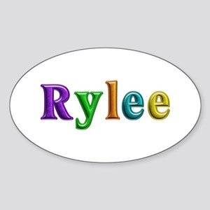 Rylee Shiny Colors Oval Sticker