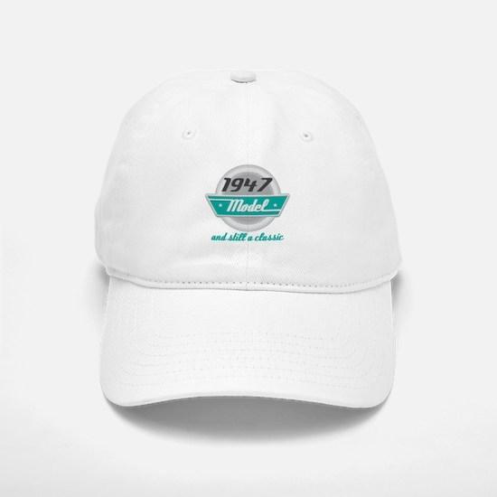 1947 Birthday Vintage Chrome Baseball Baseball Cap