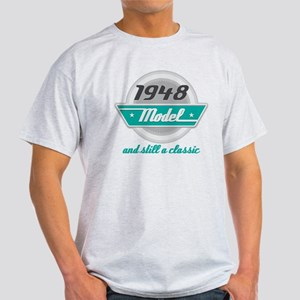 1948 Birthday Vintage Chrome Light T-Shirt