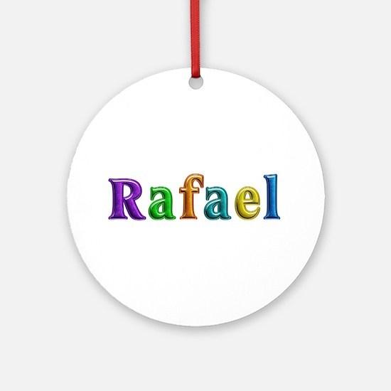 Rafael Shiny Colors Round Ornament