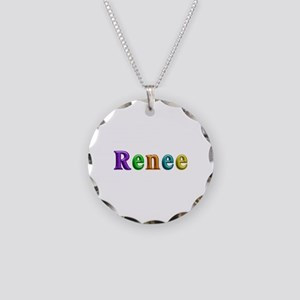 Renee Shiny Colors Necklace Circle Charm