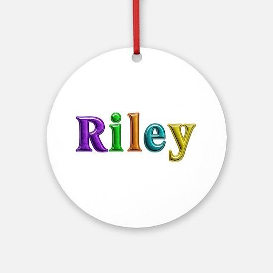 Riley Shiny Colors Round Ornament