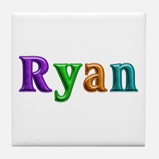 Ryan Shiny Colors Tile Coaster