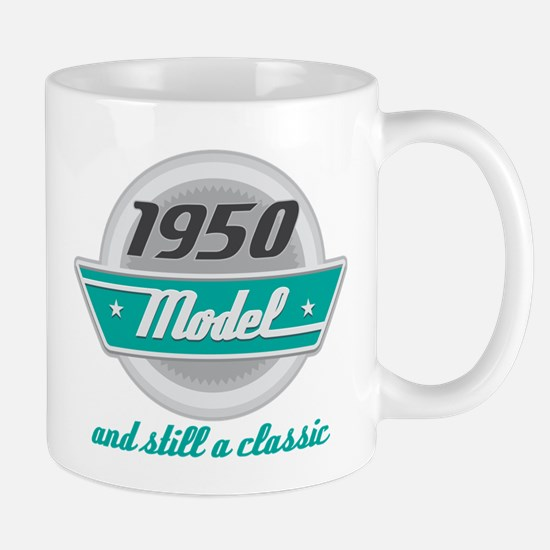 1950 Birthday Vintage Chrome Mug
