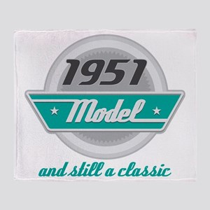 1951 Birthday Vintage Chrome Throw Blanket