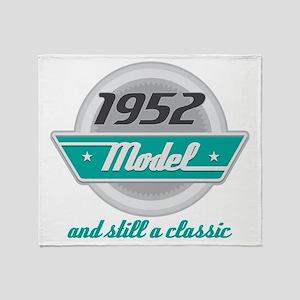 1952 Birthday Vintage Chrome Throw Blanket