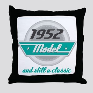 1952 Birthday Vintage Chrome Throw Pillow