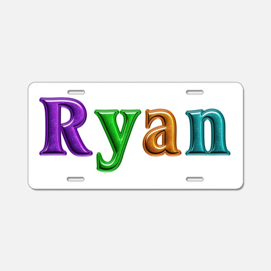 Ryan Shiny Colors Aluminum License Plate
