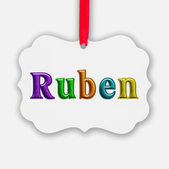 Ruben Shiny Colors Ornament