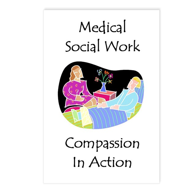 Medical Social Work Postcards (Package of 8) by swgifts