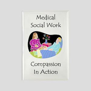 Medical Social Work Rectangle Magnet