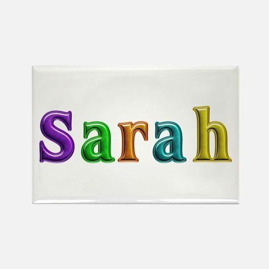 Sarah Shiny Colors Rectangle Magnet