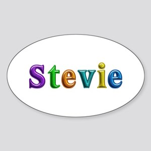 Stevie Shiny Colors Oval Sticker