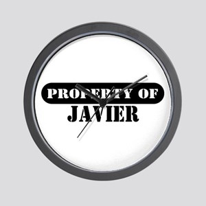 Property of Javier Wall Clock