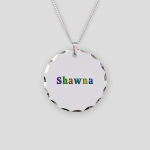 Shawna Shiny Colors Necklace Circle Charm