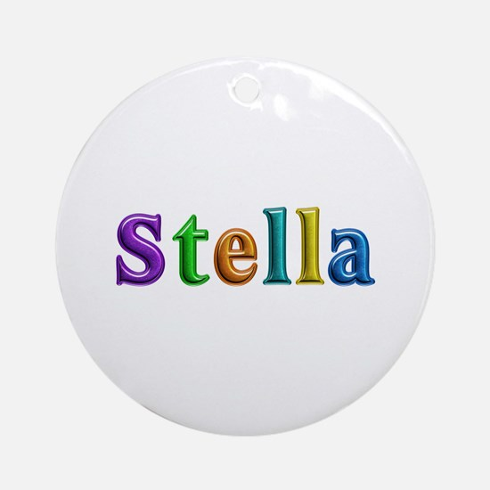 Stella Shiny Colors Round Ornament