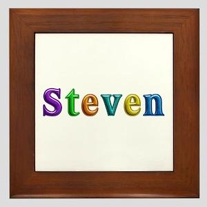 Steven Shiny Colors Framed Tile