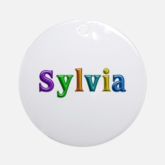 Sylvia Shiny Colors Round Ornament