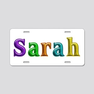 Sarah Shiny Colors Aluminum License Plate