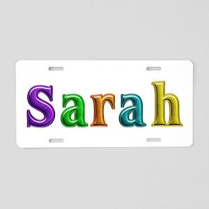 Sarah Shiny Colors Aluminum License Plate