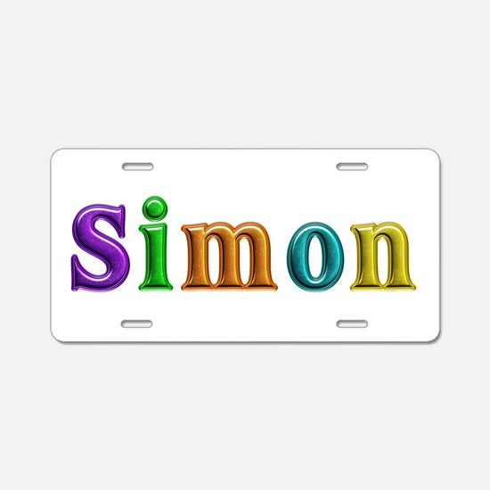 Simon Shiny Colors Aluminum License Plate