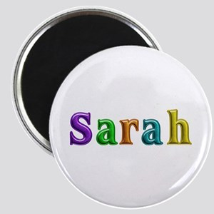 Sarah Shiny Colors Round Magnet
