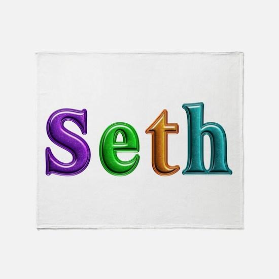 Seth Shiny Colors Throw Blanket