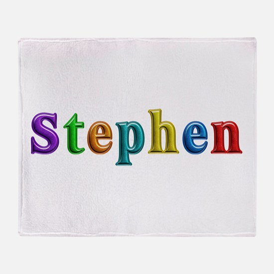 Stephen Shiny Colors Throw Blanket