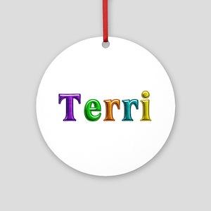 Terri Shiny Colors Round Ornament