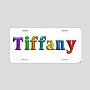 Tiffany Shiny Colors Aluminum License Plate